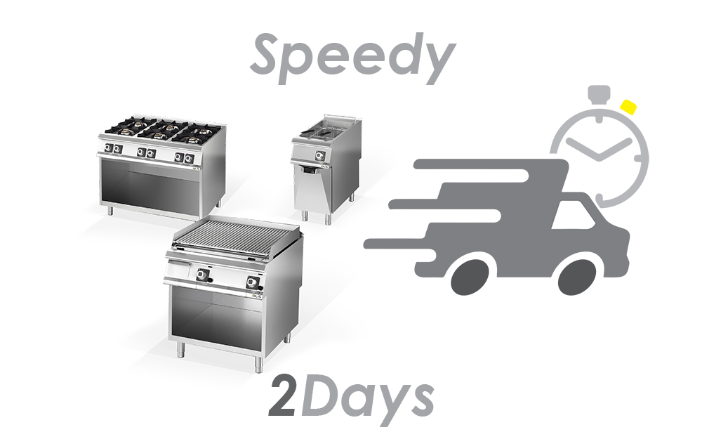 Olis offers a selection of the best-selling products, available in 48 hours. Professional kitchens are Speedy!